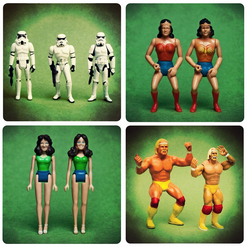 Action figure evolutions. Photos by Danny Neumann