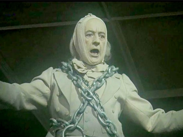 Alec Guiness as the ghost of Jacob Marley