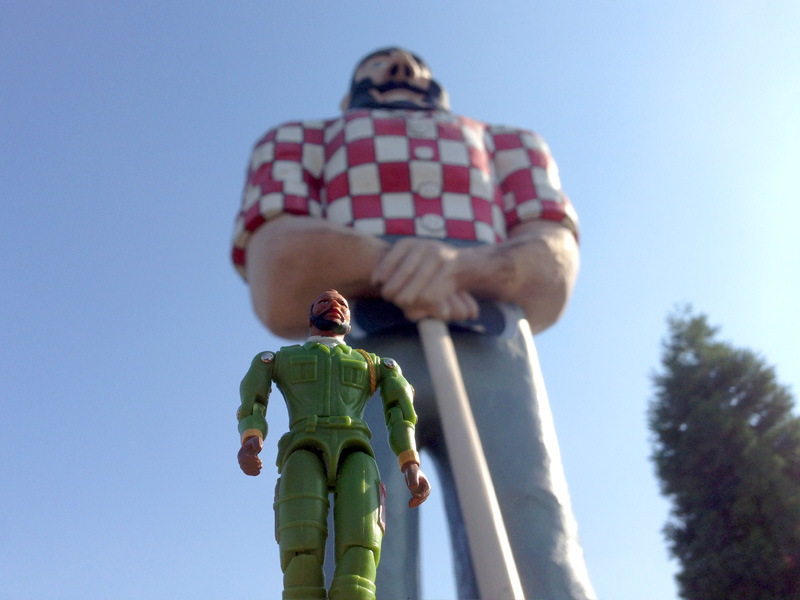 B.A. with Paul Bunyan in Oregon