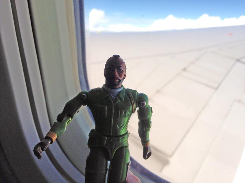 B.A. Baracus at 35,000 feet