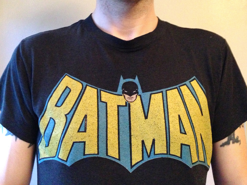 My current threadbare Batman t-shirt