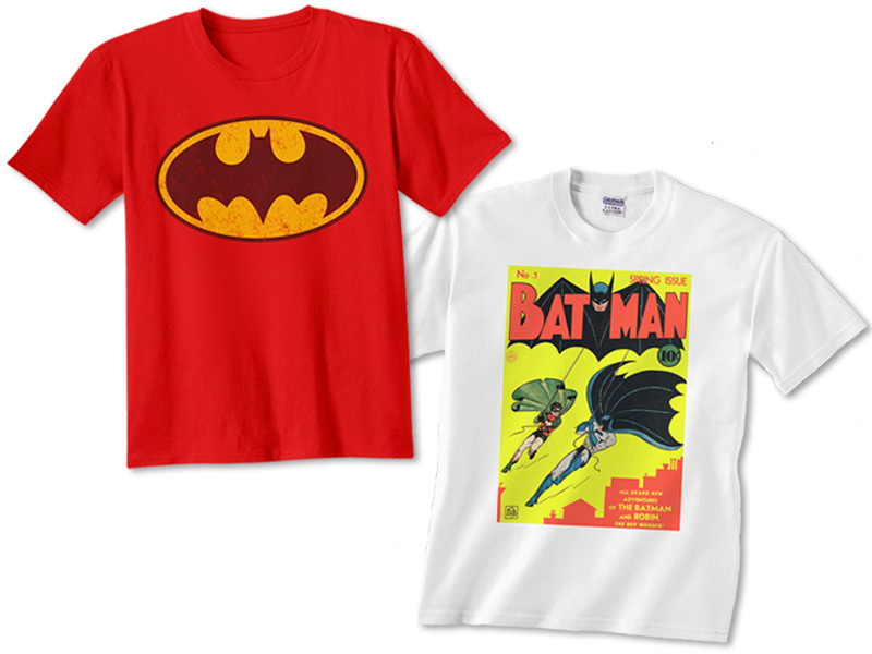 Batman shirts I've worn