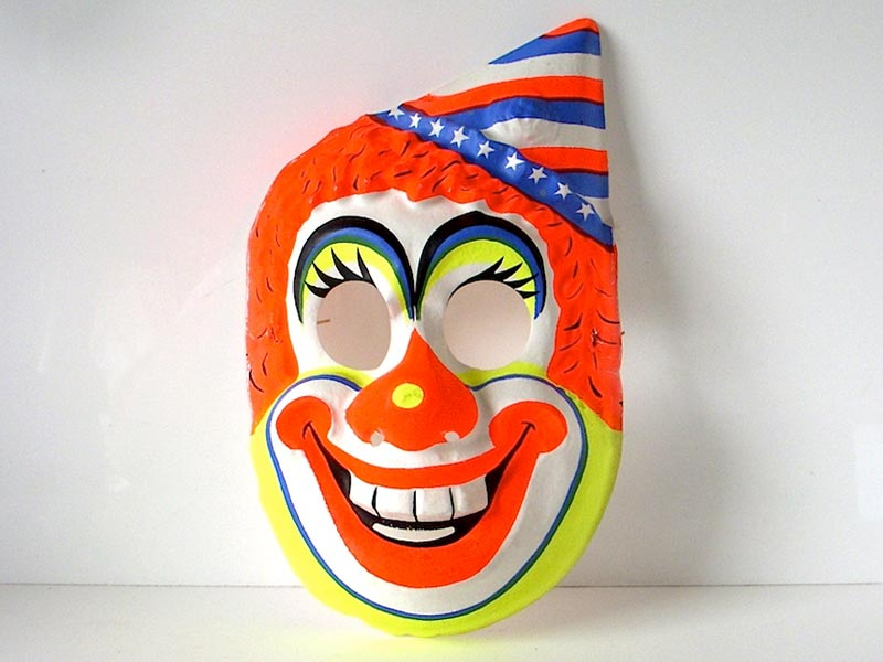 Ben Cooper clown mask. Photo by Chip Cordelli