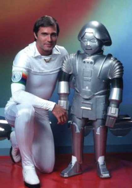Gil Gerard as Buck Rogers and Felix Silla as Twiki