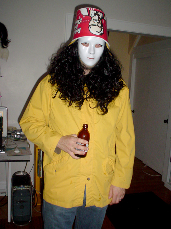 Buckethead's hair must be finger-licking good.