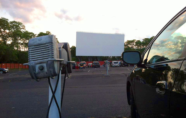 Before the show, Wellfleet Drive-In, Wellfleet, MA