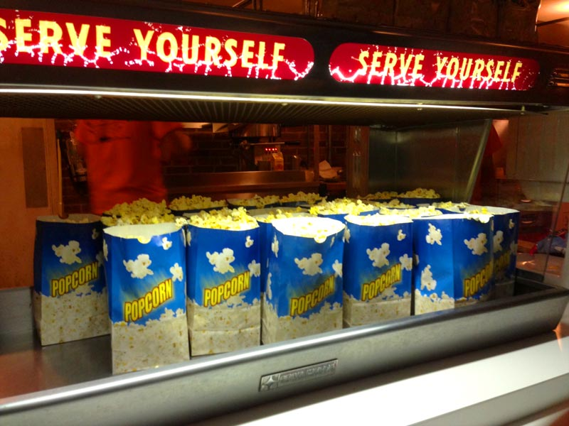 Popcorn at the Mansfield Drive-In