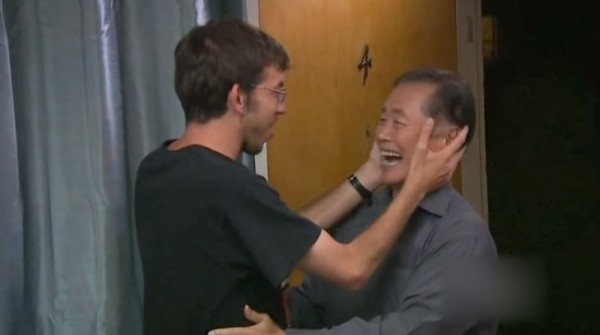 George Takei meets adoring fan, Andrew