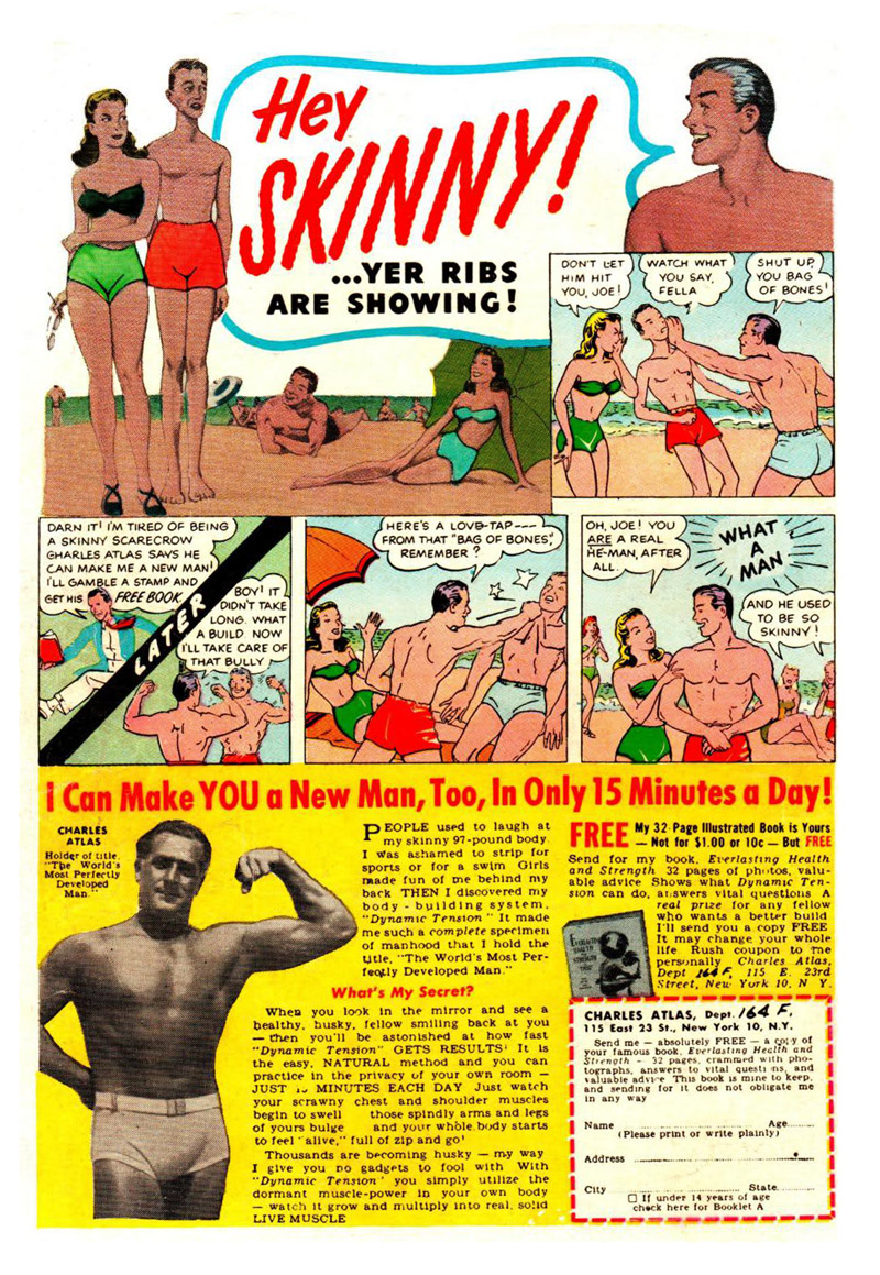 Charles Atlas Comic Book Ad
