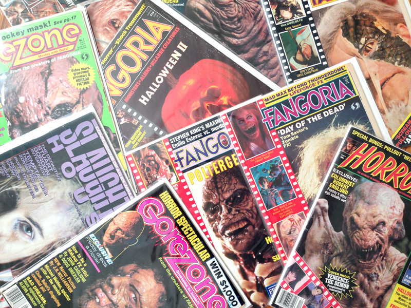 1980s horror movie magazines