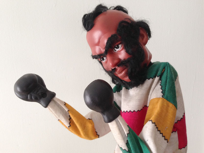 Mr. T punching puppet
