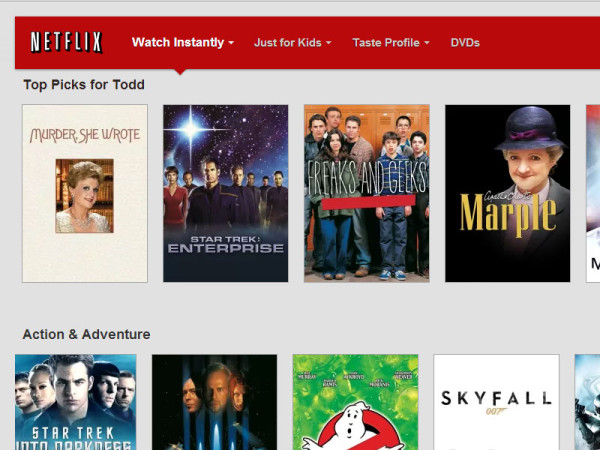 What are you trying to tell me, Netflix?