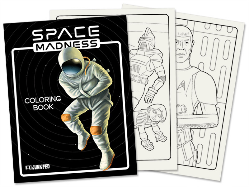 Space Madness Coloring Book