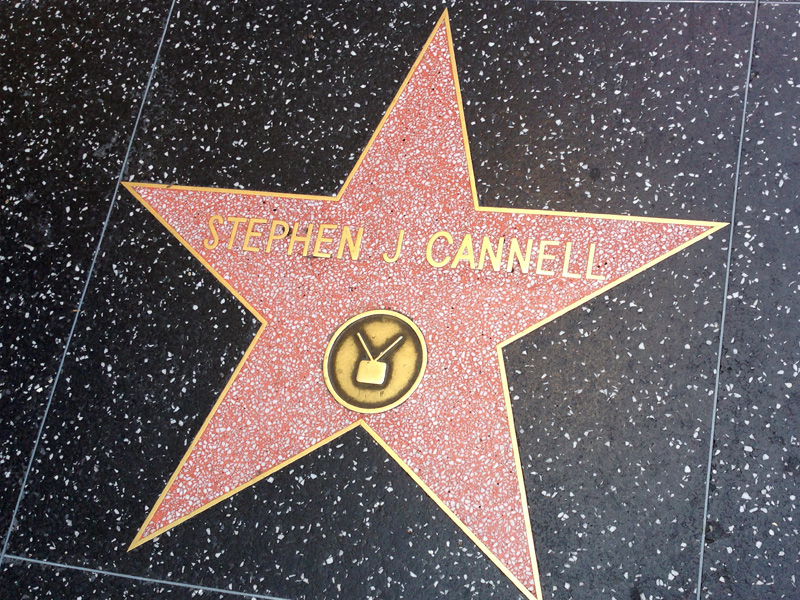 Stephen J. Cannell's star on the Walk of Fame