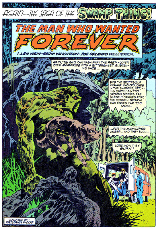 Even Swamp Thing gets nostalgic