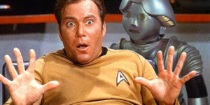 Twiki is Not Afraid of Captain Kirk