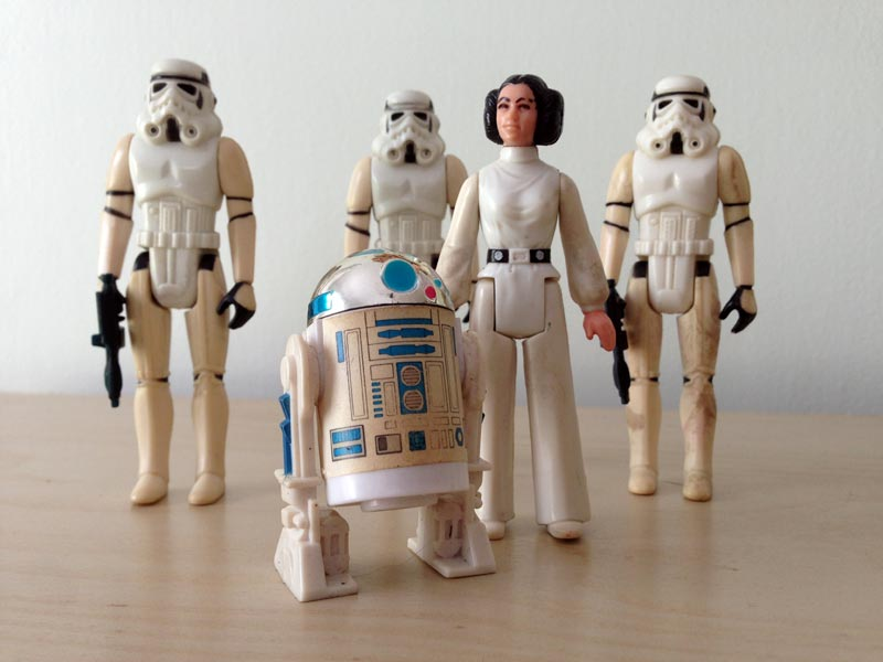 Yellow Star Wars figures